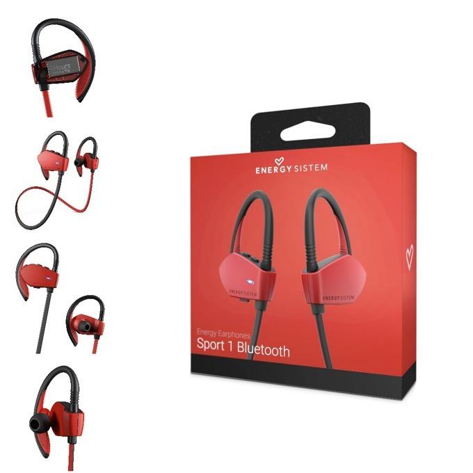 Слушалки Energy Sistem Earphones Sport 1, безжични, микрофон, Bluetooth, червени image
