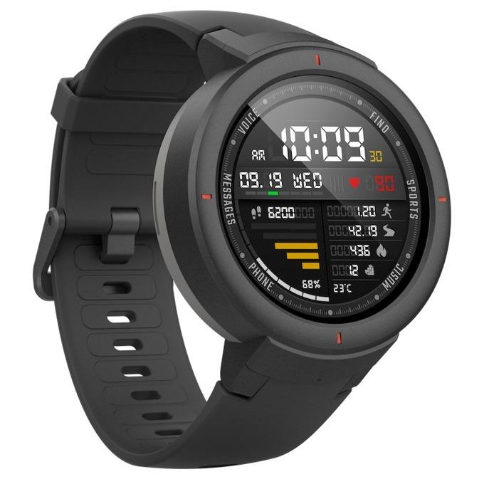 """Смарт часовник Xiaomi Mi Amazfit Verge, 1.3""""(3.3 cm) дисплей, GPS, 4GB Flash памет, Bluetooth, 390 mAh батерия, черен image"""