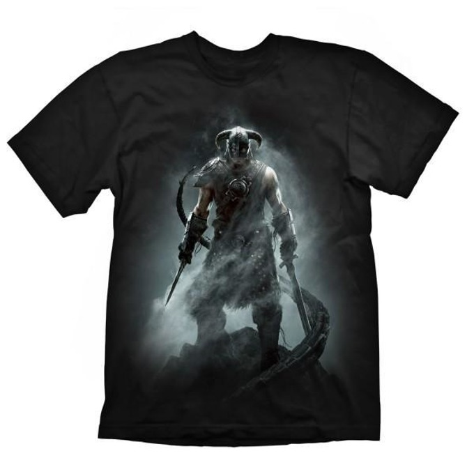 Тениска Gaya Entertainment Skyrim Dragonborn, размер XXL, черна image