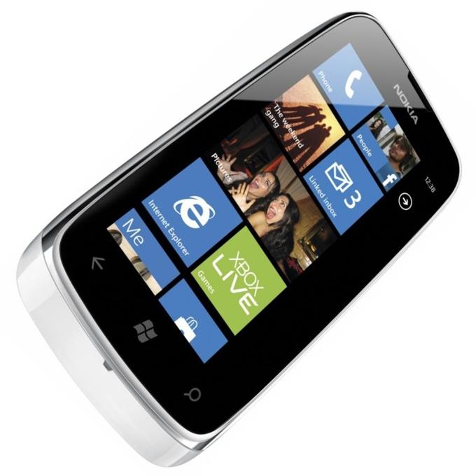 "NOKIA Lumia 610, бял, 3.7""(9.39 cm), 800 MHz, 0.256GB RAM, 8GB памет, 5MPix camera, Brand OS  image"