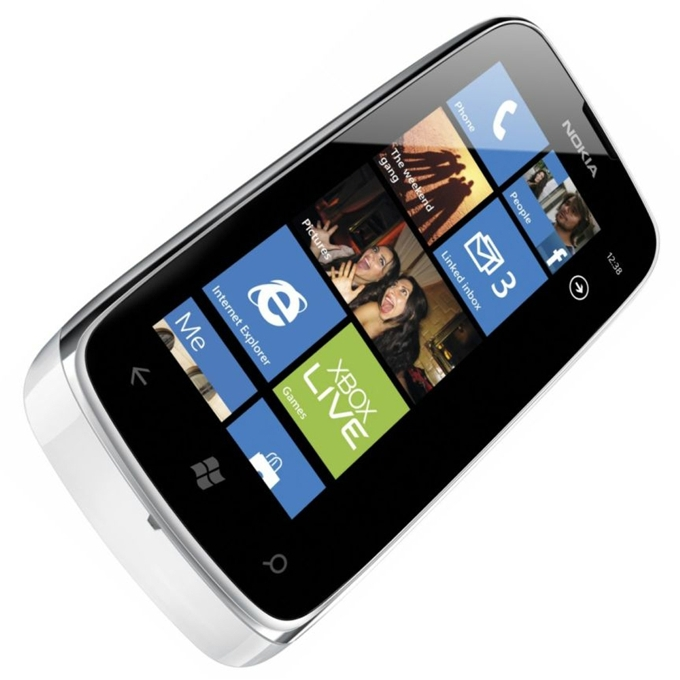 "Смартфон NOKIA Lumia 610, бял, 3.7""(9.39 cm), 800 MHz, 0.256GB RAM, 8GB памет, 5MPix camera, Brand OS  image"