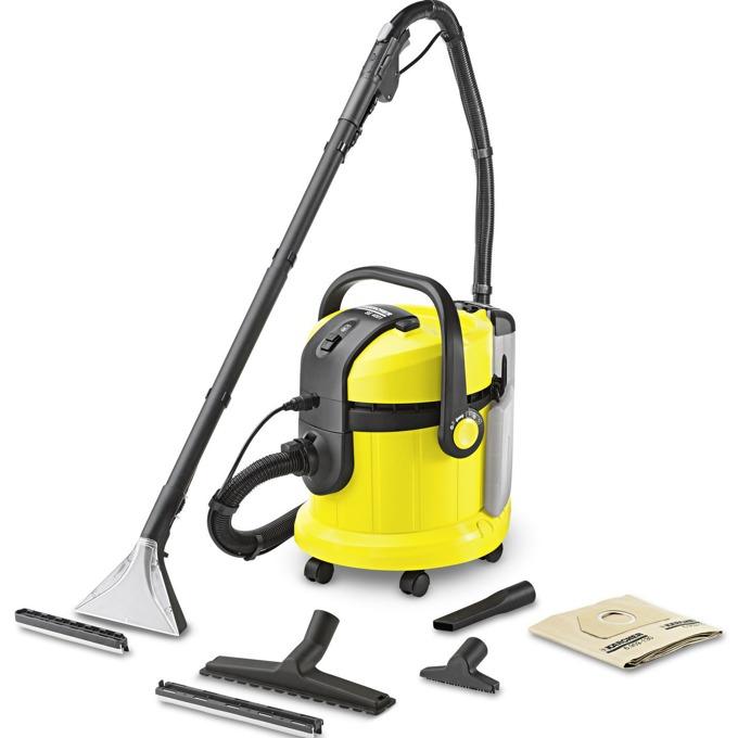 Прахосмукачка Karcher SE 4001, с торба, перяща, 1400 W, 4 л, порест филтър, маркуч с ръкохватка за пръскане/изсмукване, тръби за впръскване и екстракция, жълта image