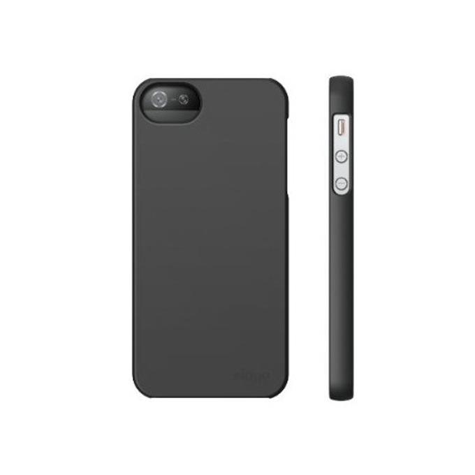 Поликарбонатов протектор Elago S5 Slim Fit 2 Case + HD Clear Film HD покритие за iPhone 5, iPhone 5S, тъмносив-мат image