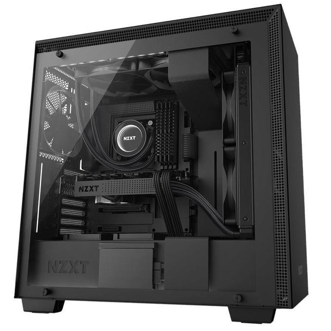 Кутия NZXT H700i, EATX/ATX/mATX/miniITX, 2 x USB 3.1 Gen 1, 2 x USB 2.0, с прозорец, черна, без захранване image