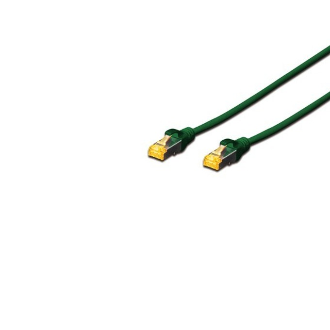 Пач кабел Assmann, SFTP, Cat.6A, 1m, зелен image