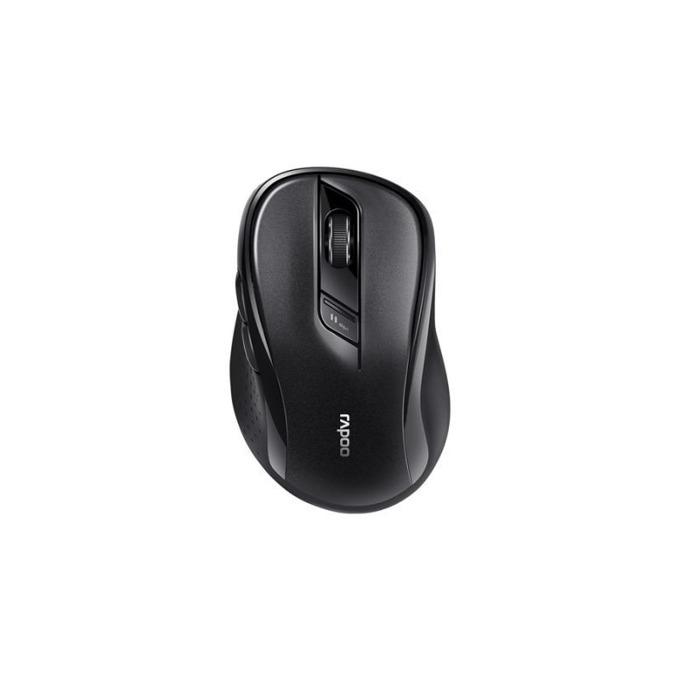Мишка RAPOO M500, оптична(1600dpi), безжична(Bluetooth 4.0/2.4 GHz), USB, черна, 10м обхват image