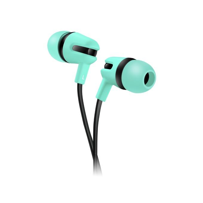 Слушалки Canyon CNS-CEP4G, микрофон, 1.2m плосък кабел, зелени image