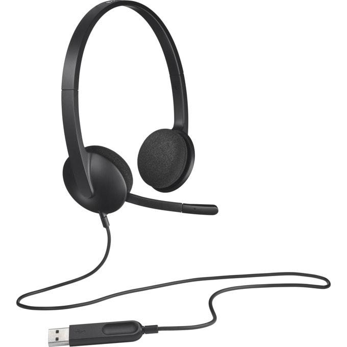Слушалки Logitech H340, USB, черни image
