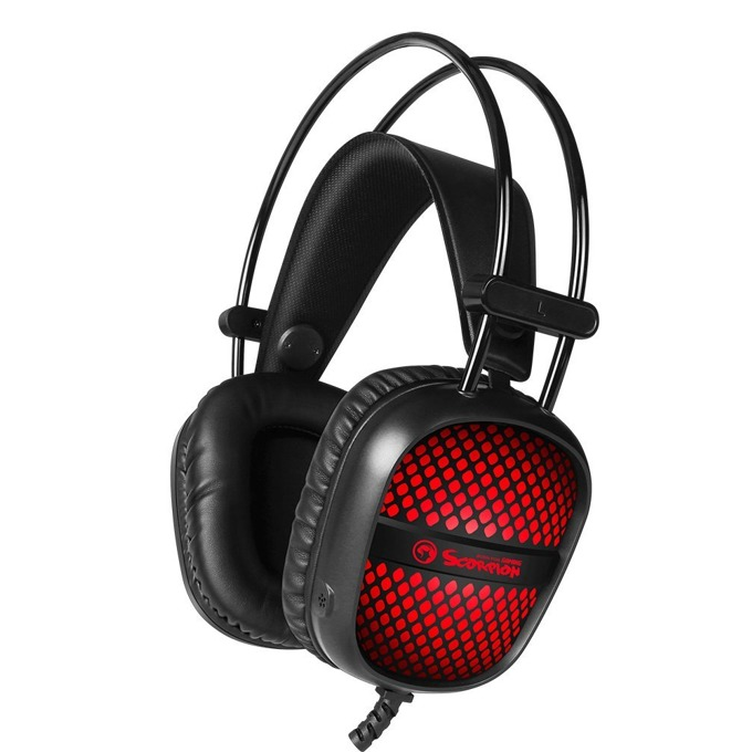 Слушалки Marvo HG8941, микрофон, AUX, RGB подсветка, черни image