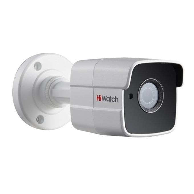 """Аналогова/AHD камера HiWatch DS-T300, насочена """"bullet"""" камера, 3MPix (1920х1536/18FPS), обектив 3.6mm, IR осветеност (до 20m), външна IP66, коаксиален кабел image"""