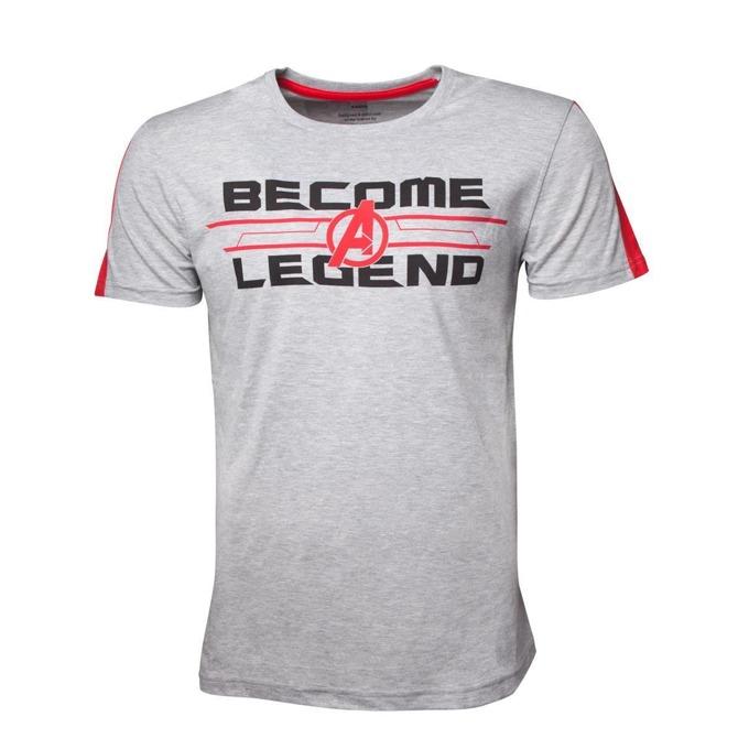 Тениска Avengers - Become A Legend Men's, размер S, сива image