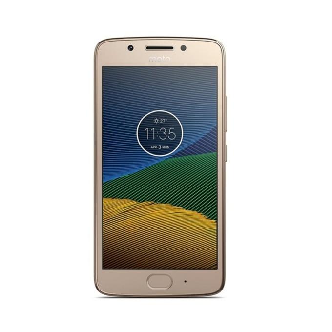 "Motorola Moto G5s(златист), поддържа 2 sim карти, 5.2"" (13.21 cm) Full HD IPS дисплей, осемядрен Qualcomm Snapdragon 430 (1.4 GHz Cortex-A53), 3GB RAM, 32GB Flash памет(+microSD слот), 16 & 5 Mpix camera, Android, 157g image"