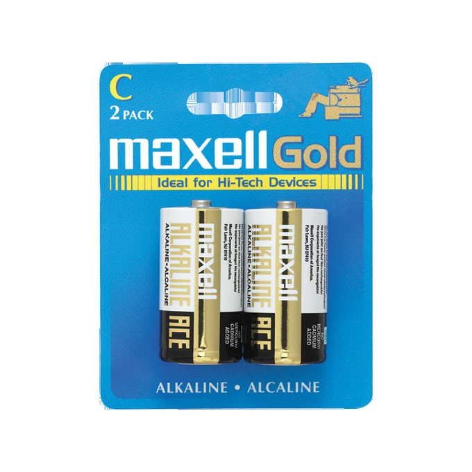 Батерии алкални Maxell Gold LR14(C), 1.5V, 2 бр. image