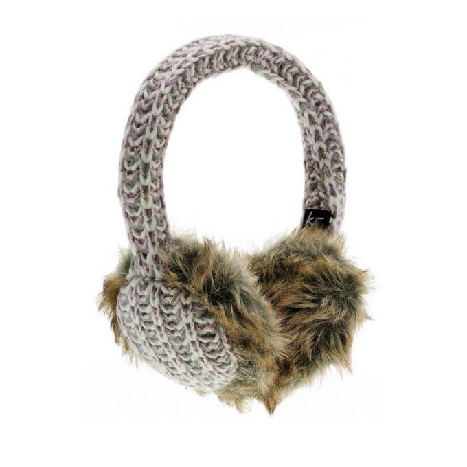 Слушалки KitSound Lurex Knit Audio Earmuffs, 3.5mm jack, 103dB, бяло-сиви image