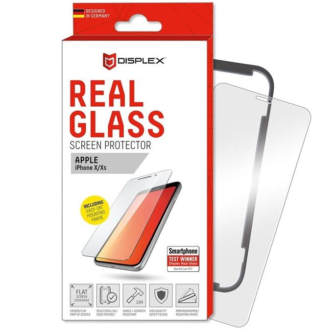 Протектор от закалено стъкло /Tempered Glass/ Displex Real Glass 10H Protector 2D, за Apple iPhone XS/X image