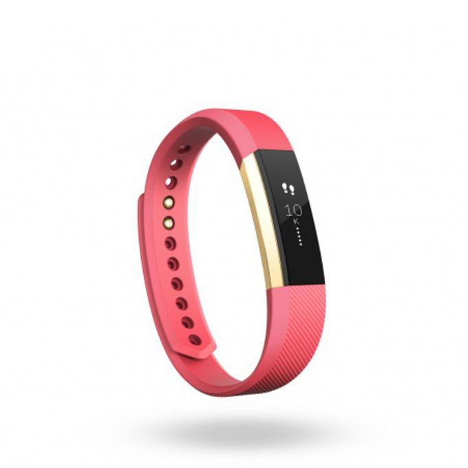 Смарт гривна Fitbit Alta Large Size, Bluetooth, OLED Tap Display, Mac OS X 10.6 (или по-нова), iPhone 4S (или по-нова), iPad 3 gen. (или по-нова), Android and Windows 10 devices, златисто-розова image