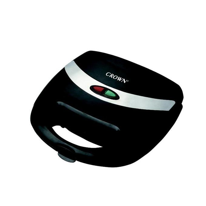 Сандвич скара Crown CGM-753, 750W, светлинен индикатор, топлоизолиран корпус, черна image