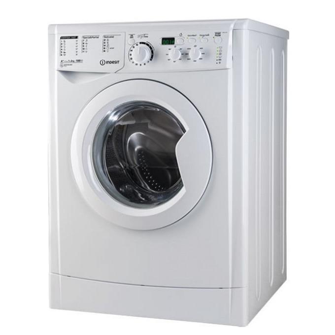 Перална машина Indesit EWD61052WEU, клас A++, 6кг. капацитет, 1000 оборота в минута, 16 програми, свободностояща, 60 cm. ширина, бяла  image