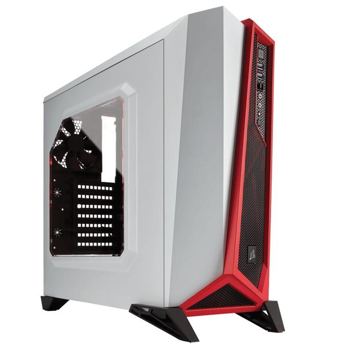 Кутия Corsair Carbide Series SPEC-ALPHA, Mini-ITX/mATX/ATX, 2x USB 3.0, бял/червен, без захранване, по поръчка image