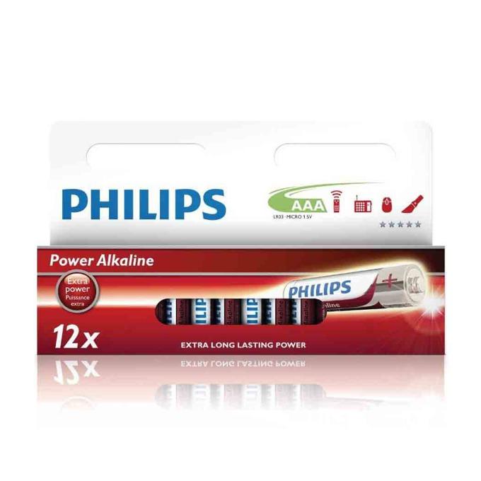Батерии алкални Philips Power AAA, 1.5V, 12 бр. image