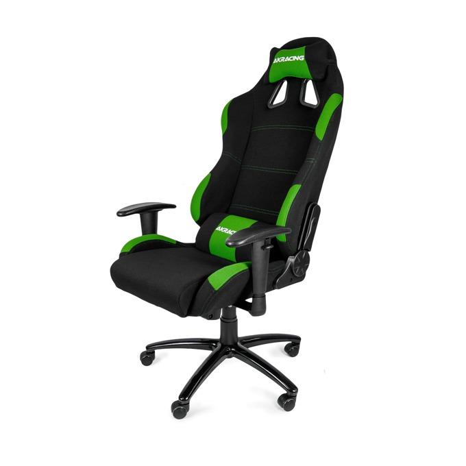 Геймърски стол AKRACING К7012, черно/зелен image