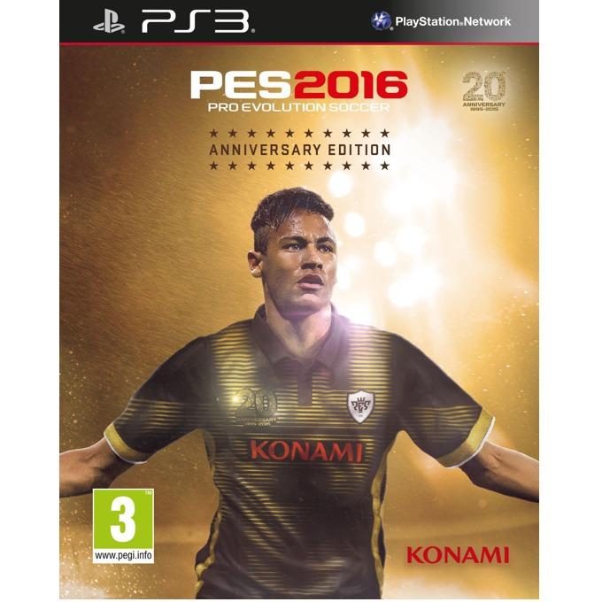 Игра за конзола Pro Evolution Soccer 2016 Aniversary Edition, Бонусите включват: 1x Играч на годината, 1x Играч за 10 мача, 10,000 GP x 10 седмици, фигурка на Neymar JR, стилна метална кутия за съхранение на играта. за PS3 image