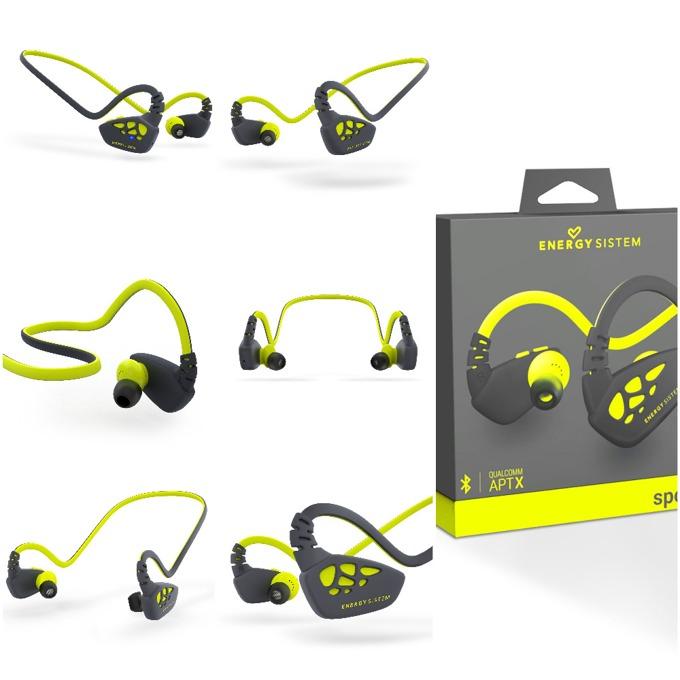 Слушалки Energy Sistem Earphones Sport 3, безжични, микрофон, Bluetooth, жълти image