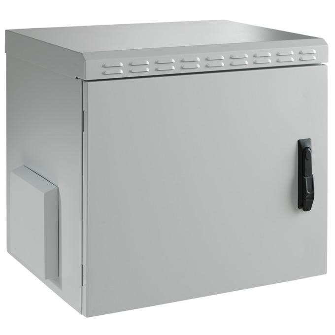 Комуникационен шкаф Mirsan MR.IP55W07U45.02, 7U, 450mm, 100 кг товар, бял, за стена, Outdoor image