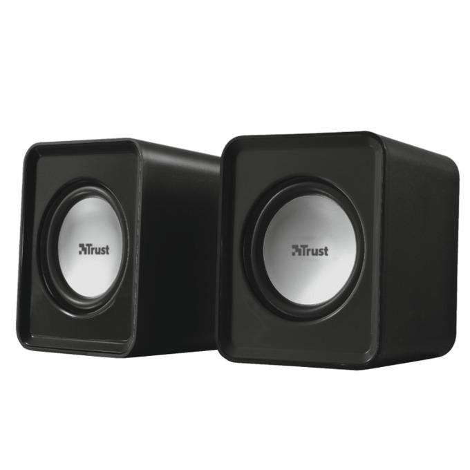 TRUST Leto Speaker Set, 2.0, 3W, USB, черни image
