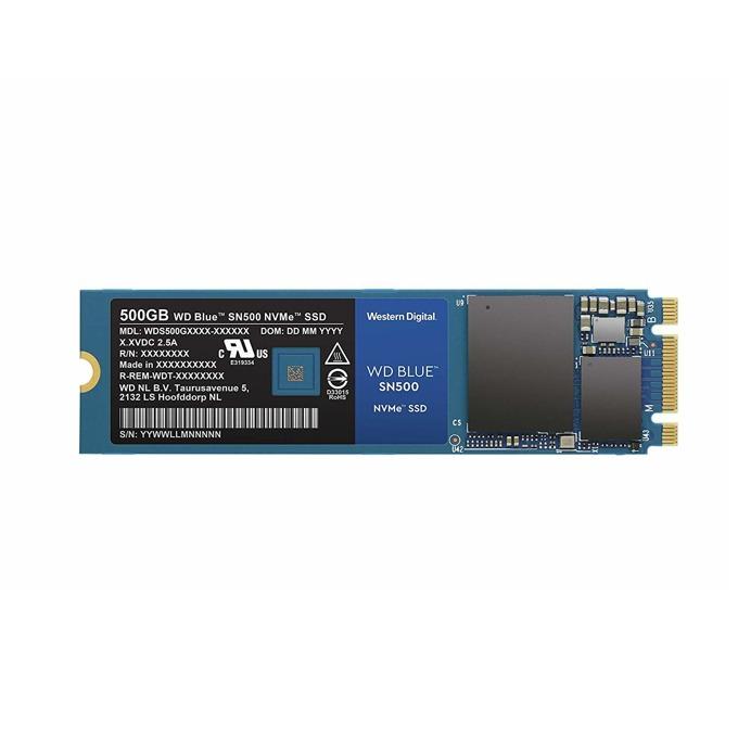 SSD 500GB WD Blue SN500, NVMe, M.2 (2280), скорост на четене 1700MB/s, скорост на запис 1450MB/s image