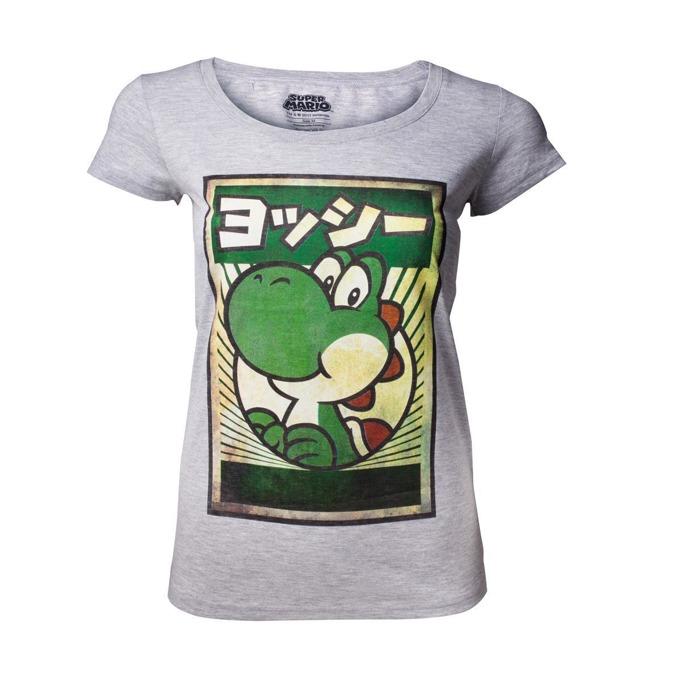 Тениска Bioworld Yoshi womens, размер M, сива image