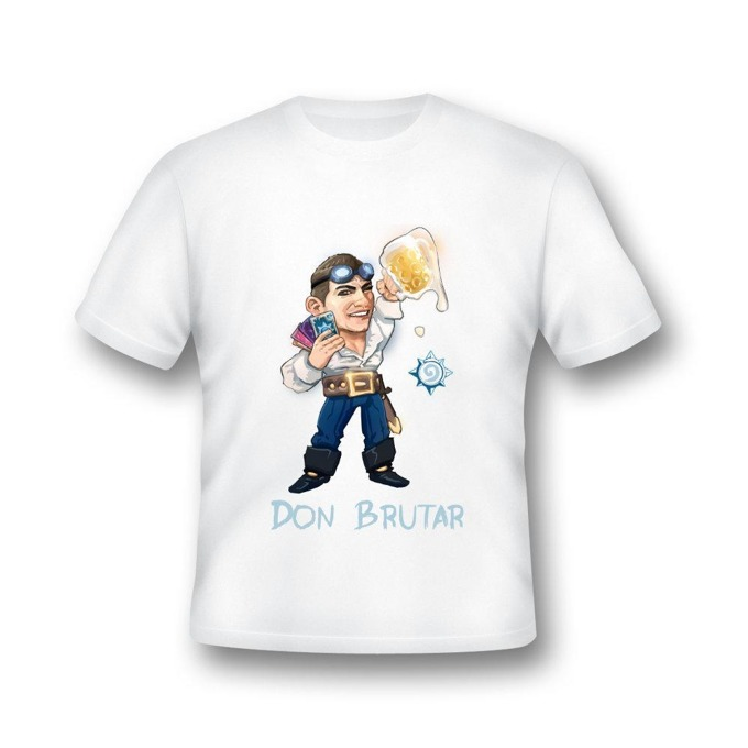 Тениска GplayTV DonBrutar, размер XL, бяла image