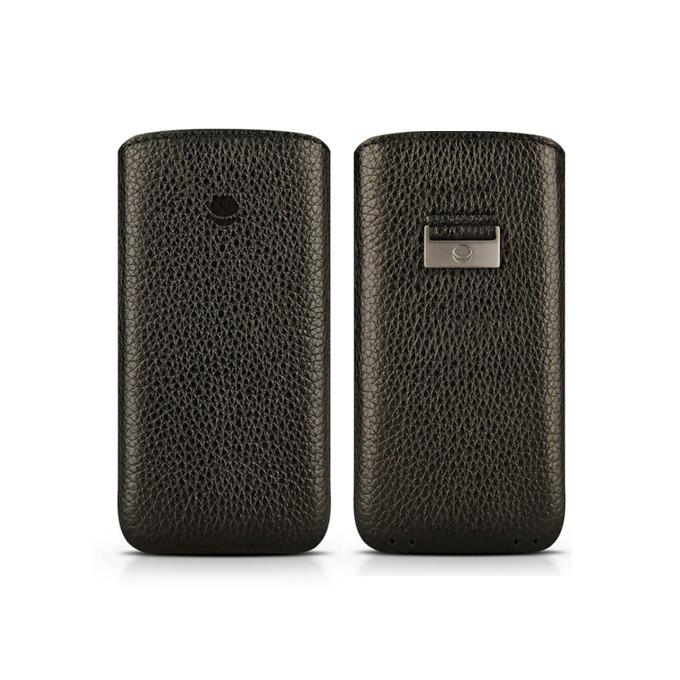 Калъф за Apple iPhone 7/6/6S, джоб, кожен, Beyza Retro Strap, черeн image