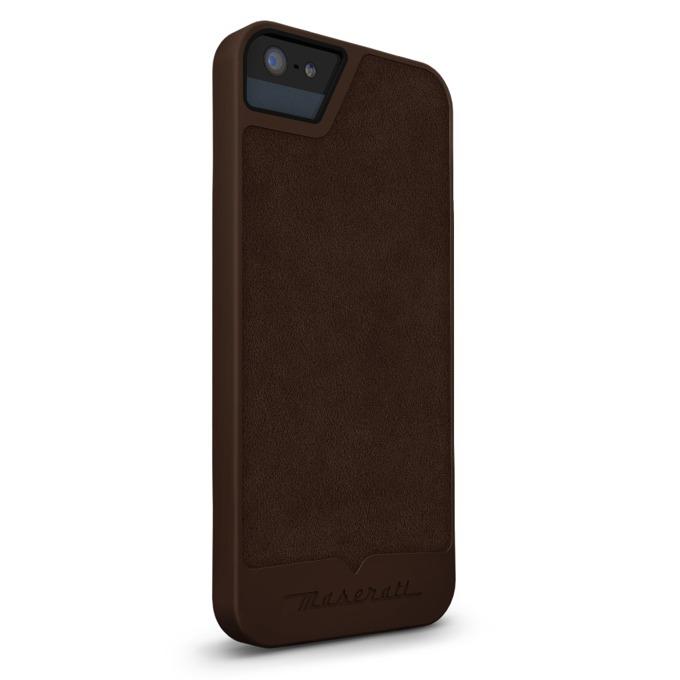 Калъф за Apple iPhone 5/5S/SE, кожен, Beyza, Maserati Calandra S Brown, кафяв image