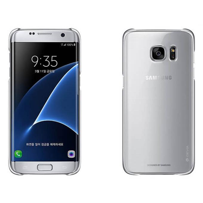 Калъф за Galaxy S7 Edge, страничен протектор с гръб, поликарбонат, Devia Glimmer, сребрист image