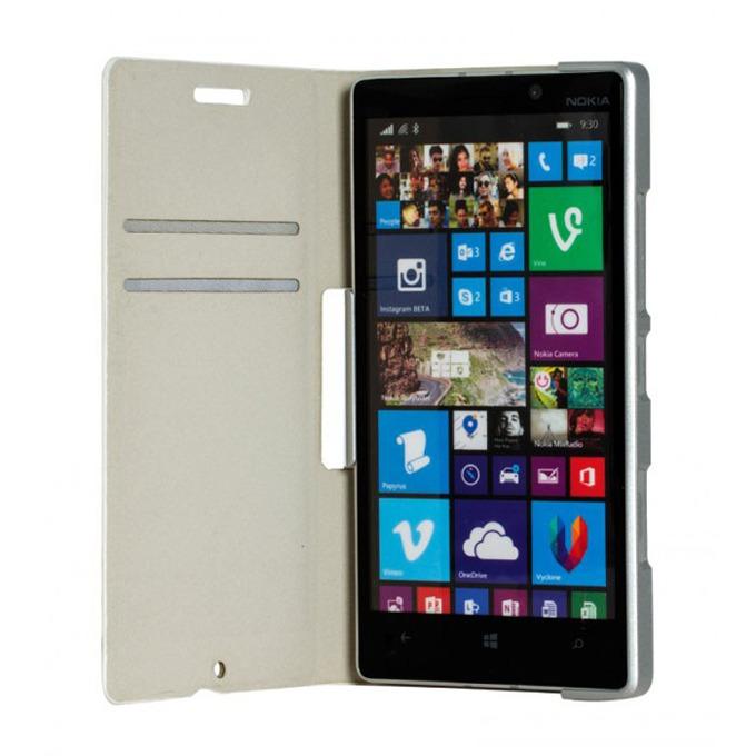 Калъф за Nokia Lumia 930, Flip cover, бял image