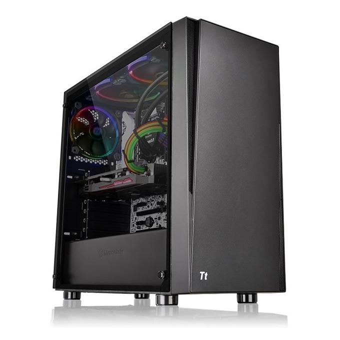Кутия Thermaltake Versa J21 Tempered Glass Edition, ATX/mATX/mini-ITX, 2x USB 3.0, страничен прозорец от темперирано стъкло, черна, без захранване image