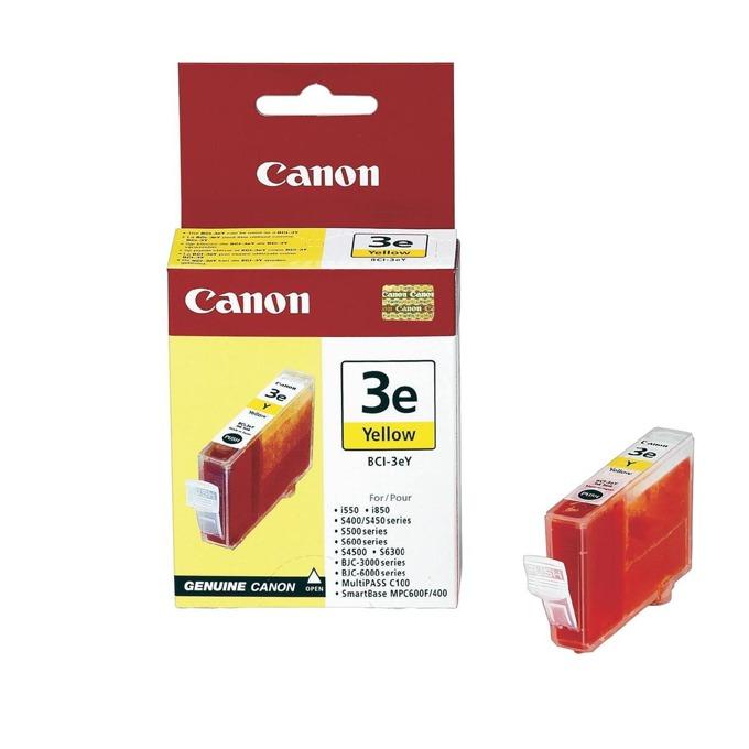 ГЛАВА CANON i550/850/6100/6500/S400/500/600/S45000/BJC-3000/6000 - Yellow - BCI-3eY image