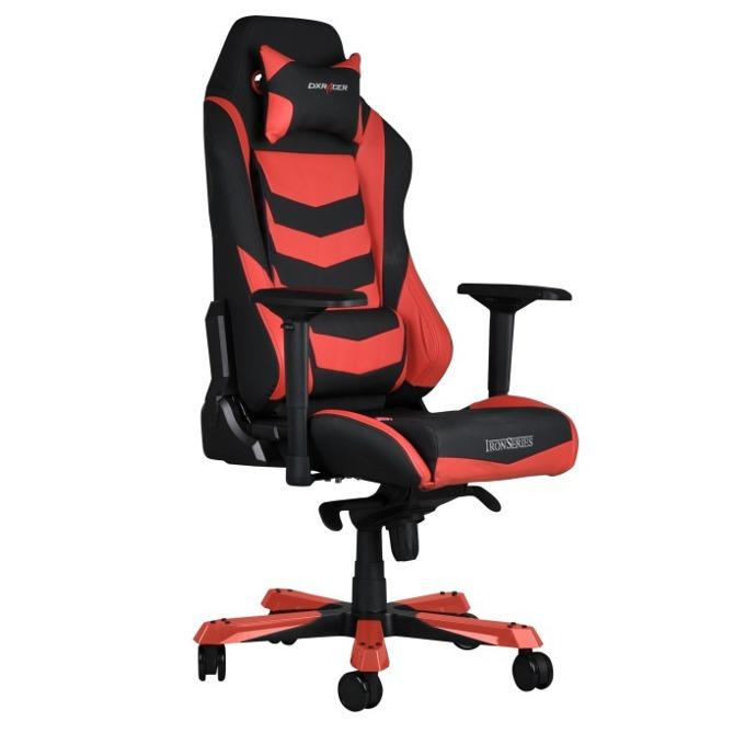 Геймърски стол DXRacer Iron OH/IS166/NR, черен/червен image