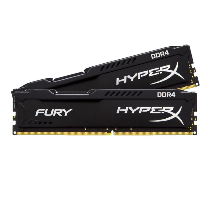 16GB (2x 8GB) DDR4 2400MHz Kingston HyperX Fury, 1,2V image