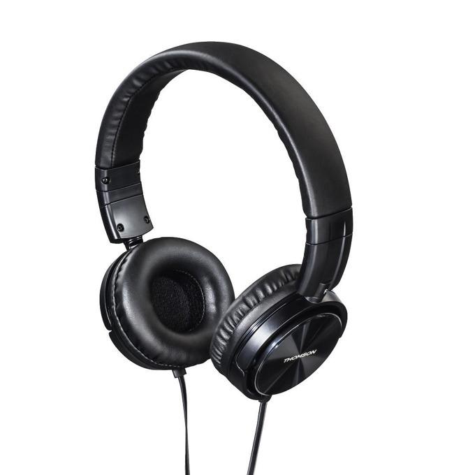 Слушалки Thomson HED2215BK, микрофон, 40мм говорители, бутон за разговори, черни image