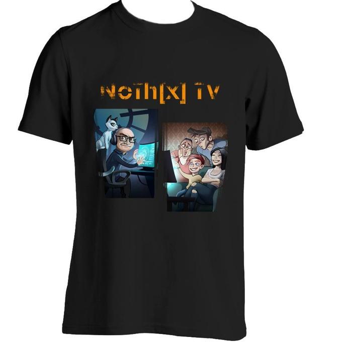 Тениска GplayTV NoThx, размер L, черна image