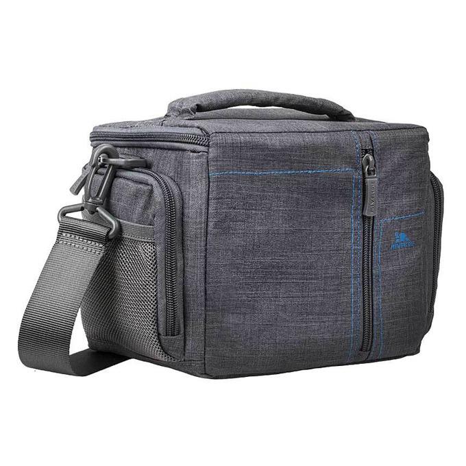 Чанта за фотоапарат Rivacase 7502 за SLR фотоапарати, полиестер, сива image