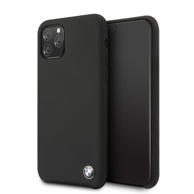 Калъф за Apple iPhone 11 Pro Max, термополиуретанов, BMW Signature Silicone Hard BMHCN65SILBK, черен image