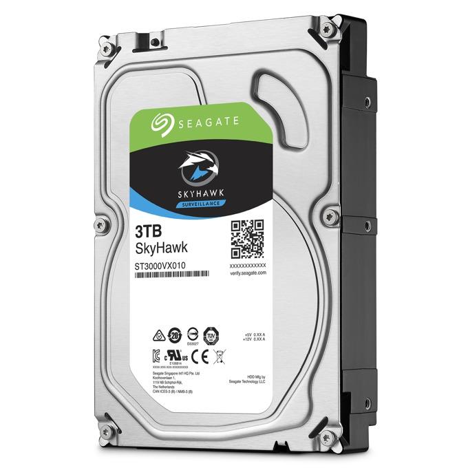 "3TB Seagate SkyHawk, SATA 6Gb/s, 5400 rpm, 64MB, 3.5""(8.89 cm) image"