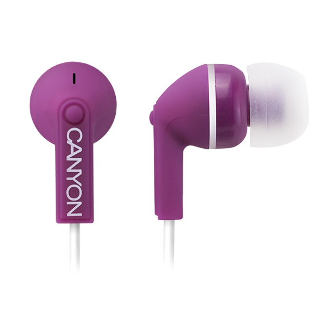 Слушалки Canyon CNS-CEP03P, микрофон, лилави image