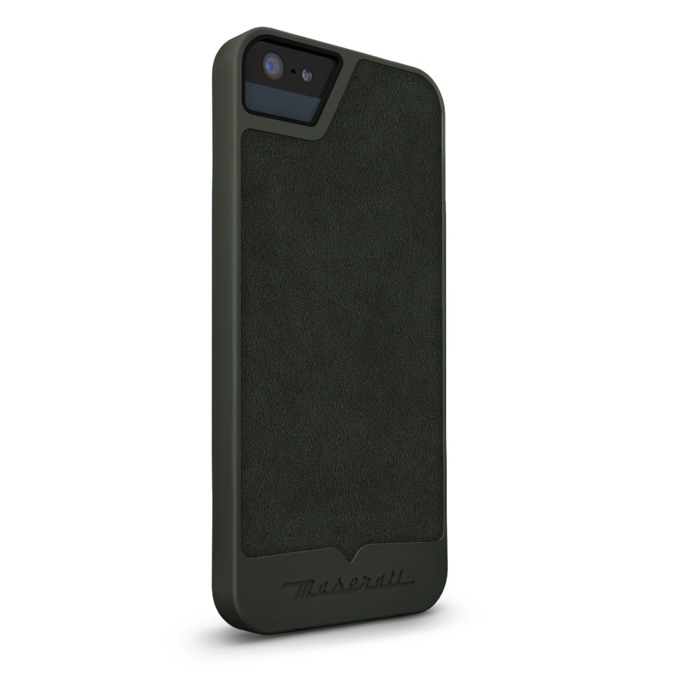 Калъф за Apple iPhone 5/5S/SE, кожен, Beyza, Maserati Calandra S green, зелен image