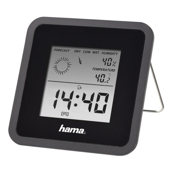 Цифров термометър/хигрометър HAMA TH50, Черен