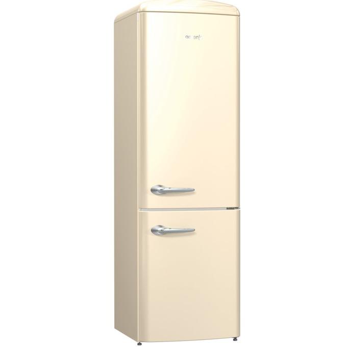 Хладилник с фризер Gorenje ORK 192 C, клас A++, 326л. общ обем, свободностоящ, 234 kWh/годишно, AdaptTech, CrispZone, XXL SpaceBox, FreshZone, шампанско image