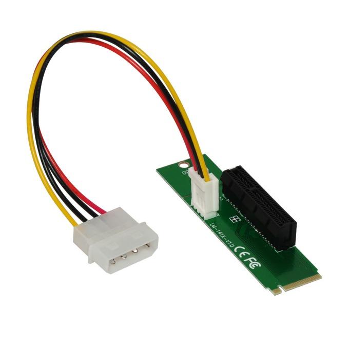 Екстендър Makki MAKKI-M2-PCIE-4x-v1, от M.2(м) към PCIe x4(ж), предназначен за добив на криптовалути image